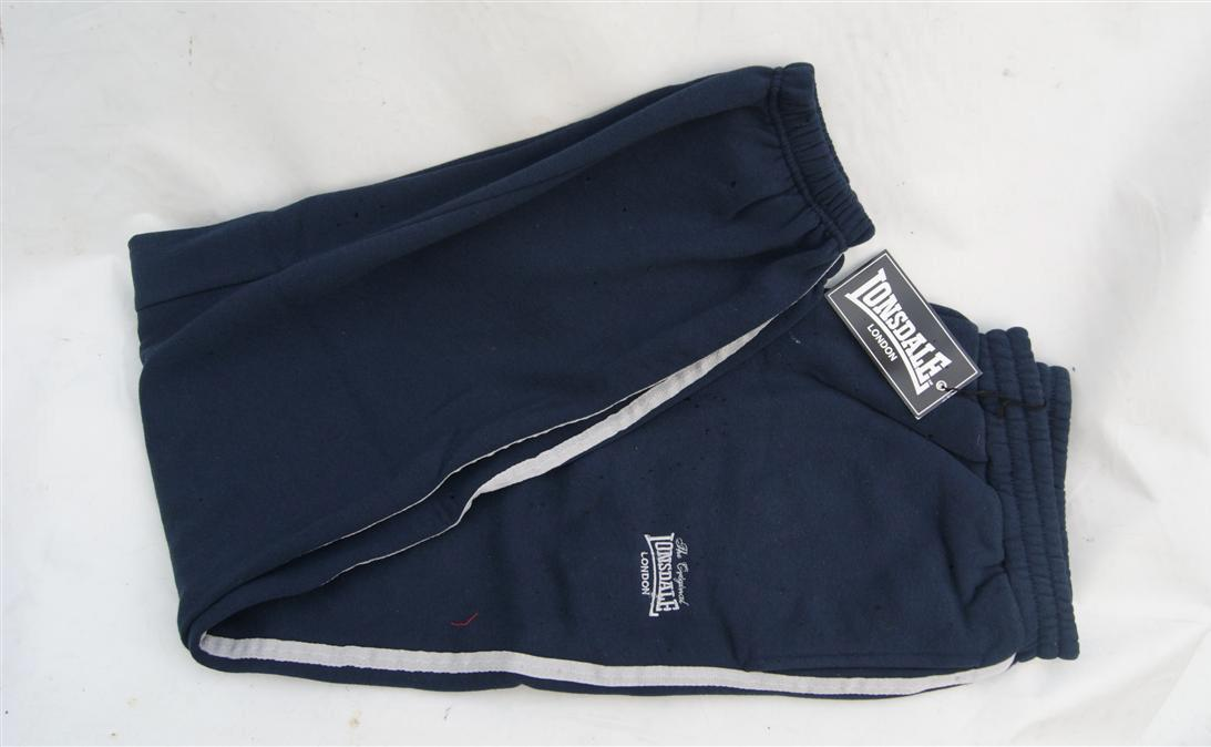 Lonsdale London Fleece Jogging Tracksuit Bottoms Sweatpants Mens Grey Navy Blue