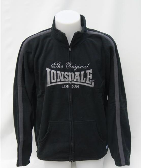 Lonsdale-Original-London-Mens-Black-Fleece-Tracksuit-Training-Jacket-Zip-Thru