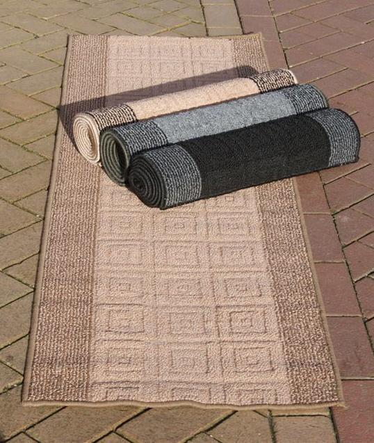 Non Slip Washable Runner Rugs Black Beige Brown Grey 6ft