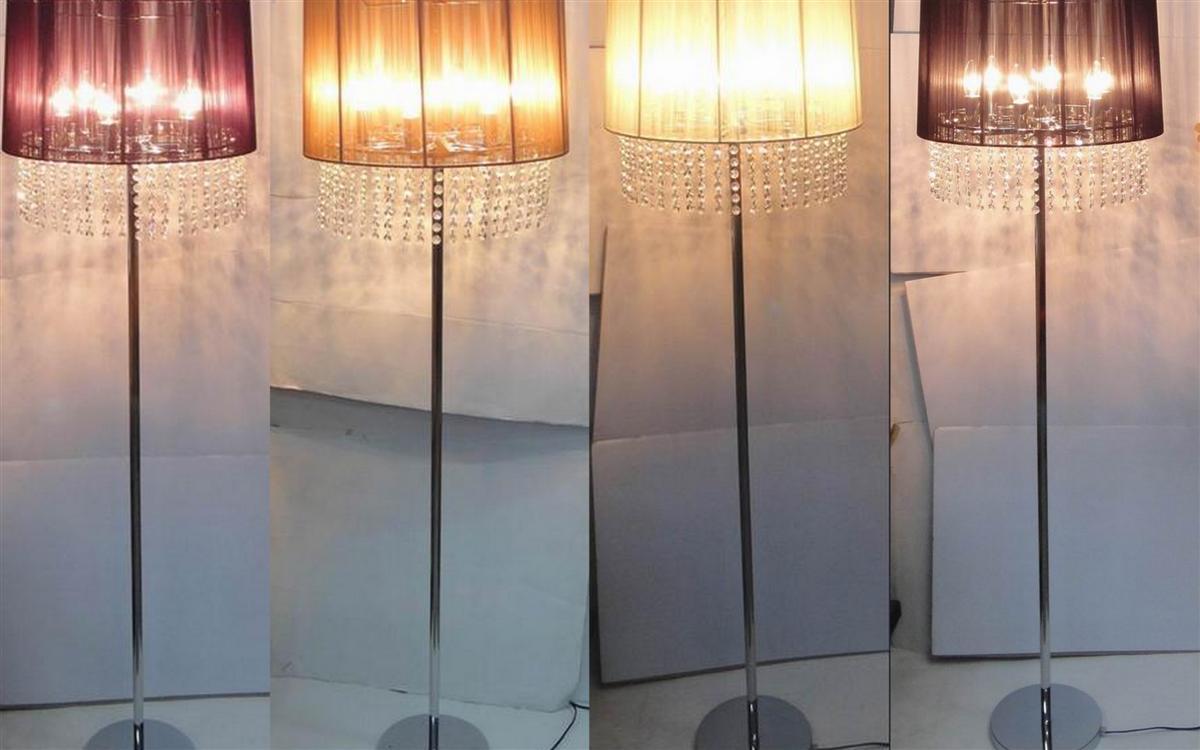 161cm crystal chandelier silver floor lamp black cream brown purple. Black Bedroom Furniture Sets. Home Design Ideas