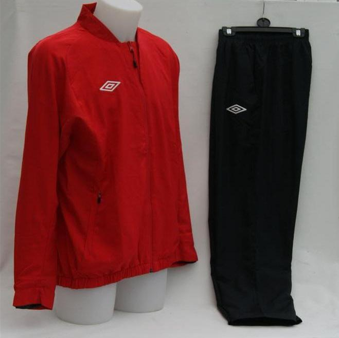 UMBRO-MENS-LARGE-RED-BLACK-TRAINING-SET-TRACKSUIT-TRACK-JACKET-PANT-BNWT
