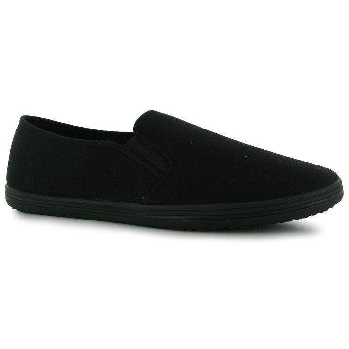 mens boys slip on canvas shoes espadrilles pumps plimsolls