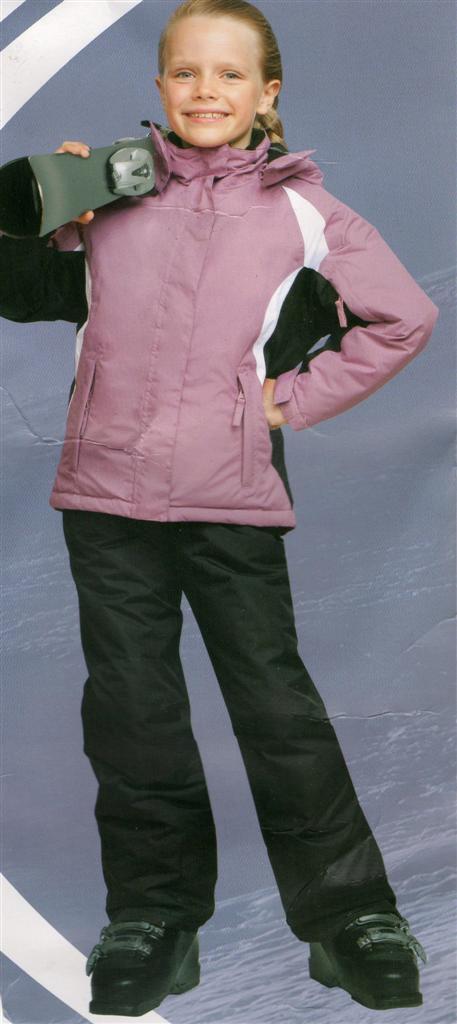 Girls Ski Suit -Jacket & Pants - Detachable Hood Waterproof Windproof