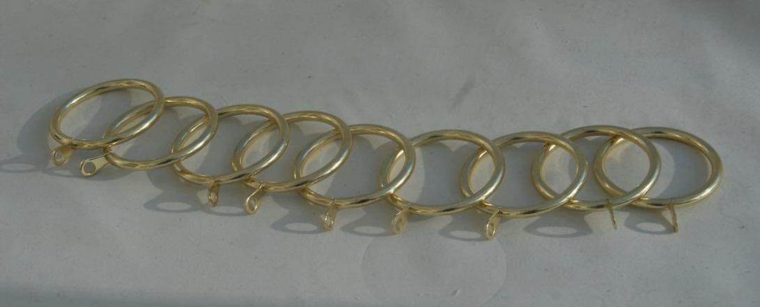 Heavy Duty Brass Gold Colour Metal Curtain Rings 55mm