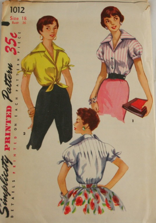 Form Fitting Blouses-Rockabilly Style