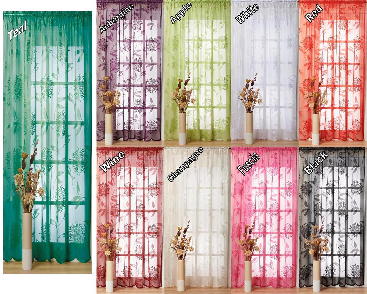 BRIDGET-VOILE-CURTAIN-PANEL-54-72-90-Drops-8-Colours