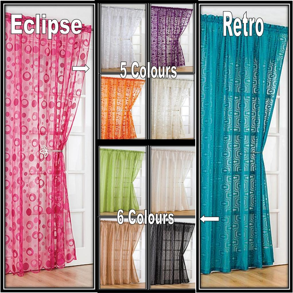 Printed curtain panels