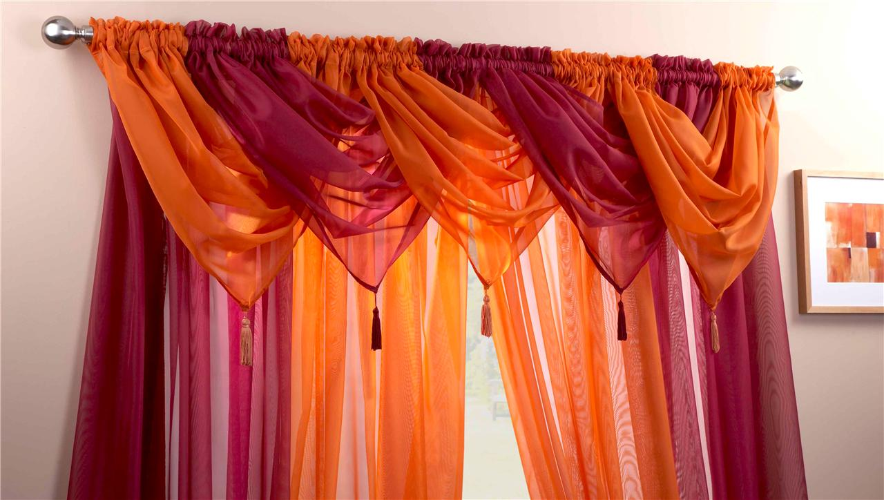 sky blue sunshine voile swags curtain panels 9 peice. Black Bedroom Furniture Sets. Home Design Ideas