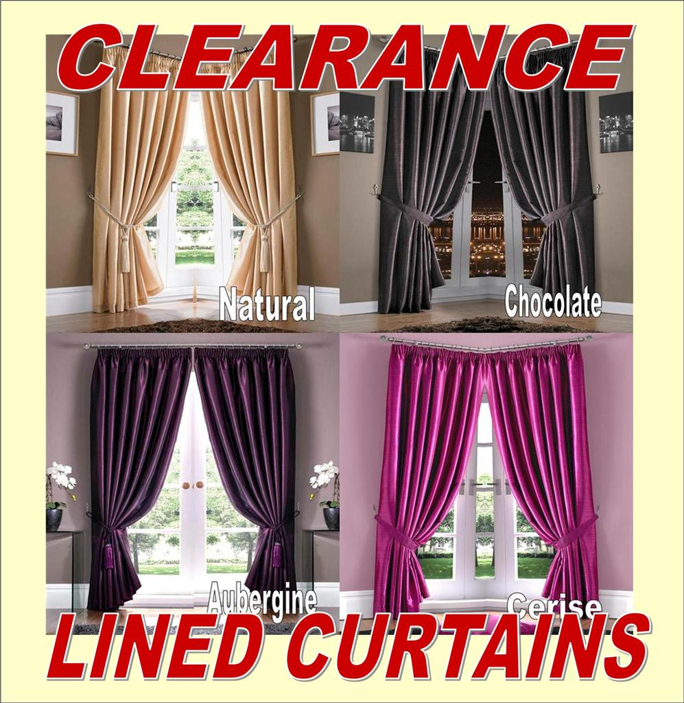 Clearance Sale Lined Curtains Low Prices Ebay