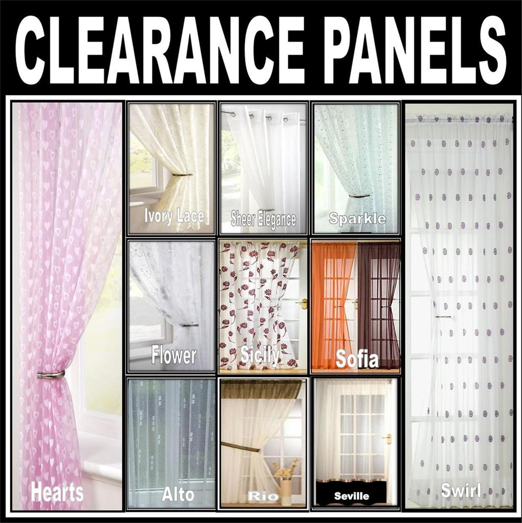 CLEARANCE SALE ~ NET, LACE, VOILE CURTAIN PANELS - Eyelet, Slot Top ...