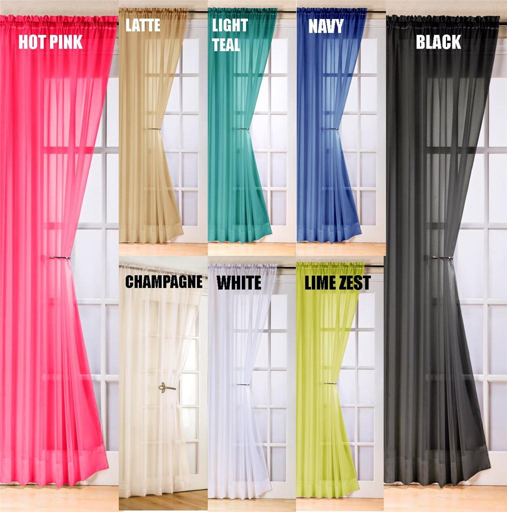 VOILE SWAG SWAGS TASSLE DECORATIVE NET CURTAIN DRAPES ...