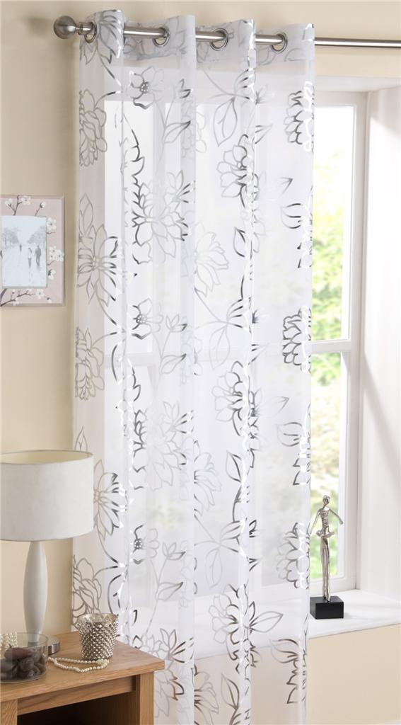 mayfair eyelet ring top voile curtain panel available in. Black Bedroom Furniture Sets. Home Design Ideas