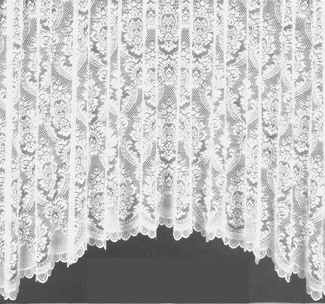 Tina Jardiniere Heavy Jacquard Net Curtain Many Sizes