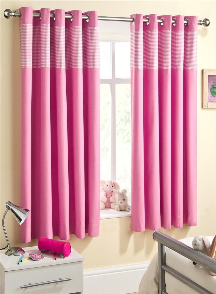 childrens pink gingham thermal blackout eyelet ring top. Black Bedroom Furniture Sets. Home Design Ideas