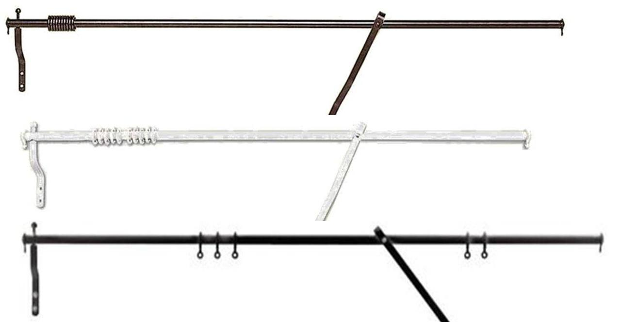 Fixed-Swing-PORTIERE-ROD-Pole-Rail-4-DOOR-CURTAINS-42