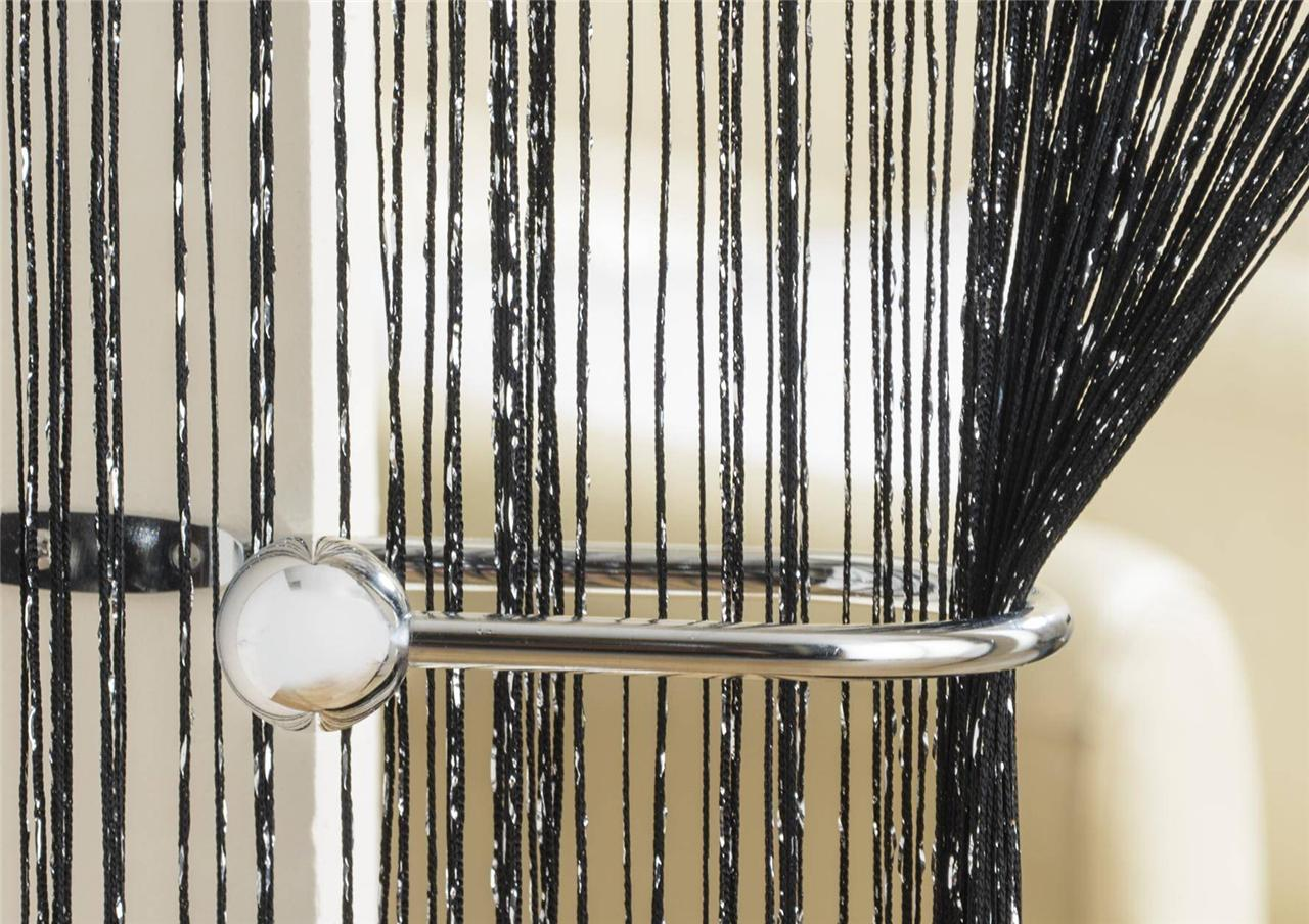 Glitter string curtain for doors windows great - Cortinas para ventanales grandes ...