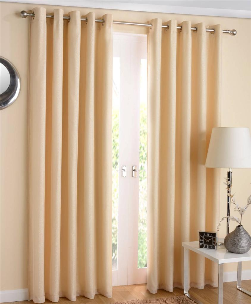 1 pair santiago sparkle lined thermal voile curtains. Black Bedroom Furniture Sets. Home Design Ideas