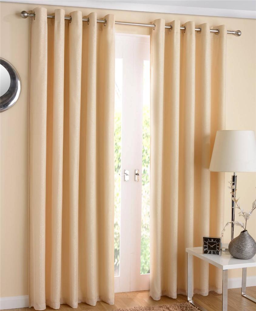 1 paire santiago sparkle doubl thermique voile rideaux illets ringtop rideaux ebay. Black Bedroom Furniture Sets. Home Design Ideas