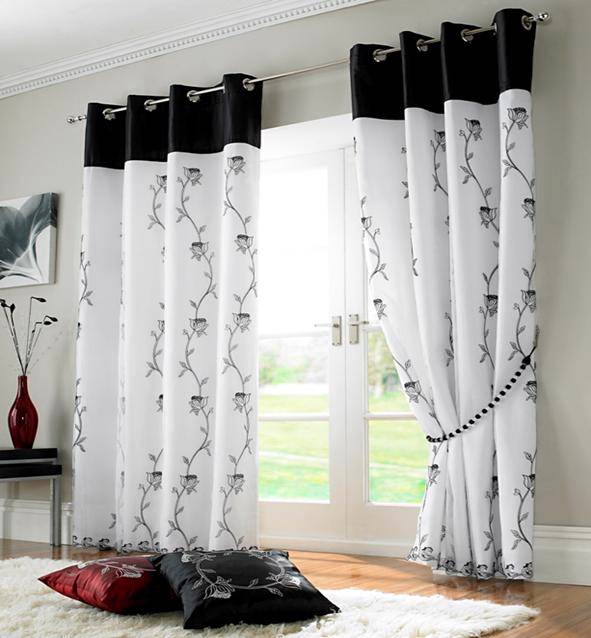 alice lined voile ring top eyelet curtains many colours. Black Bedroom Furniture Sets. Home Design Ideas