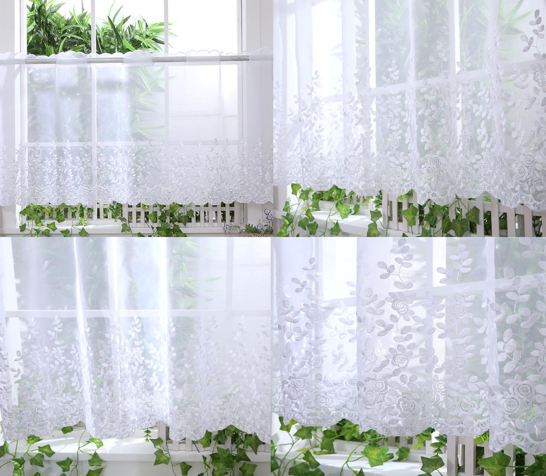 Kitchen Voile Cafe Net Curtain Panel