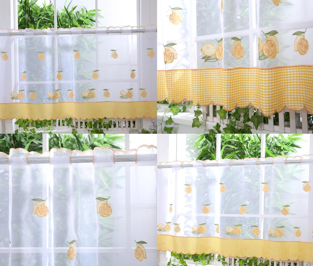 Curtain Ideas With Voile: Kitchen Voile Cafe Net Curtain Panel
