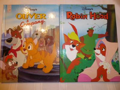 Disney TWIN BOOKS LOT 3 Pinocchio 101 Dalmatians Rescuers Disney Classic Gallery