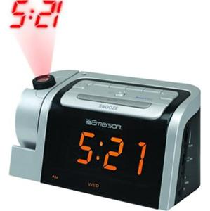 emerson dual alarm clock radio w projector projection ebay. Black Bedroom Furniture Sets. Home Design Ideas