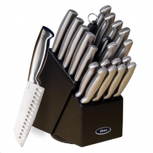 oster baldwyn 22 pc kitchen cutlery knife knives set
