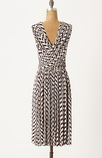NWT Anthropologie Tracy Reese Dynamic Zigs Striped Dress Amazing 5 ...