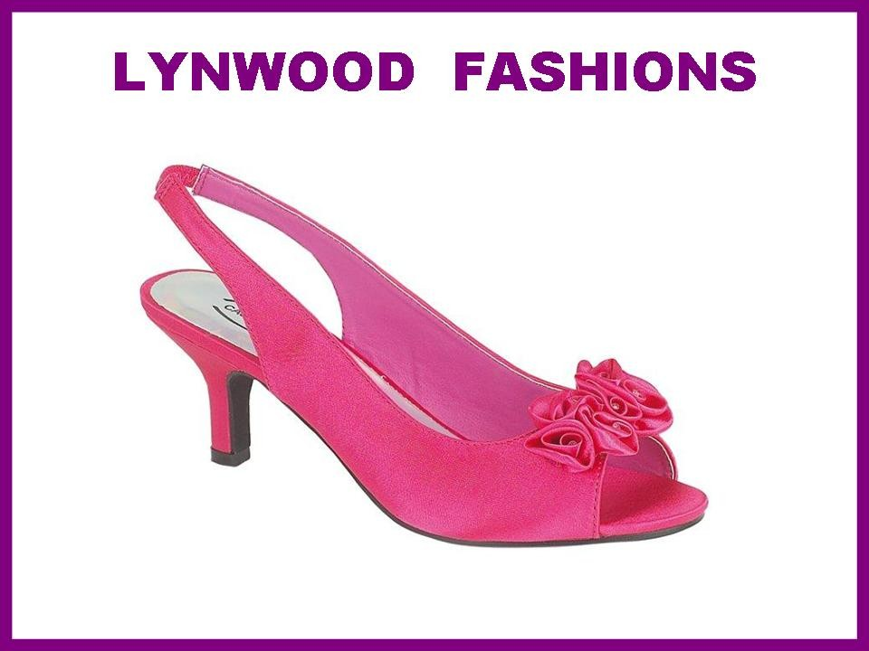 Details About FUSCHIA PINK DIAMANTE WEDDING PROM SHOES SIZE 5 NEW