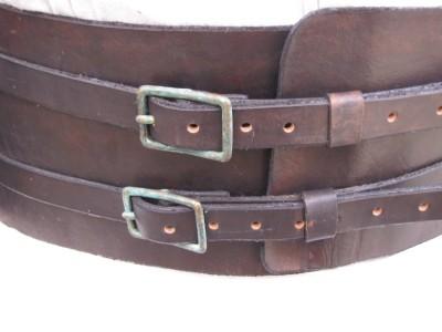 handcrafted custom leather kidney belt mens ebay