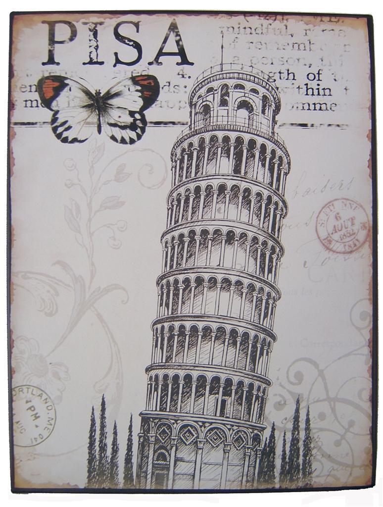 比萨斜塔闻名于世_乐乐简笔画