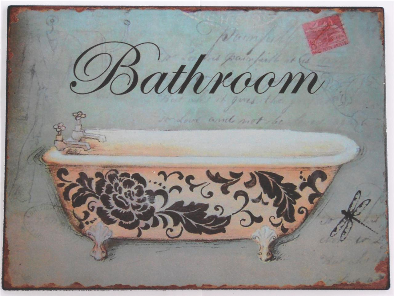 Metal Bathroom Signs For Home Thedancingpa Com