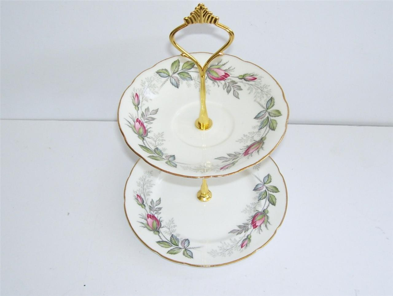 Vintage Shabby Chic Retro 2 Tier Small Cake Biscuit Stand