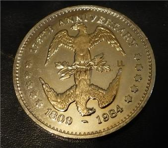 Abraham Lincoln 16th President Historial 1984 Token Coin