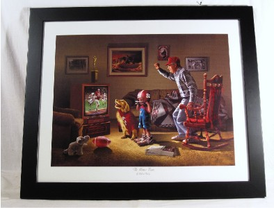 HOME TEAM ALABAMA FOOTBALL ROLL TIDE PICTURE FRAMED ROBERTA WESLEY LG