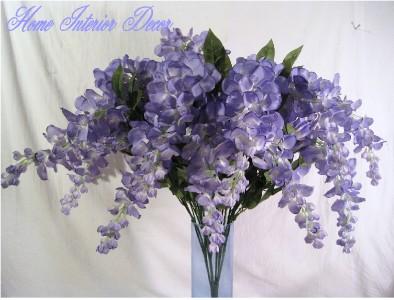 lavender lilac wisteria silk artificial floral wedding flowers bush arrangements ebay. Black Bedroom Furniture Sets. Home Design Ideas