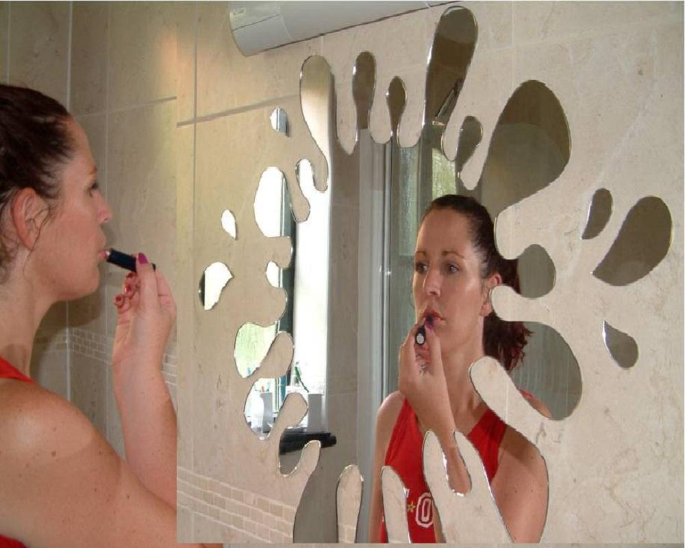 Image Is Loading Classikool Acrylic Splash Splat Bathroom Mirror Fun For
