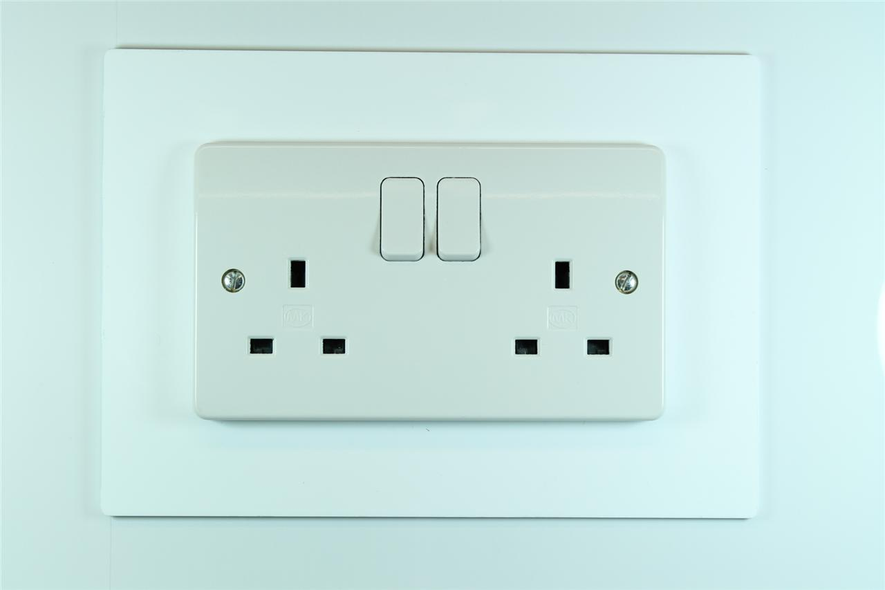 Wall Plug Light Switch : Classikool Single or Double Light Switch Plug Socket Wall Surround Finger Plate eBay