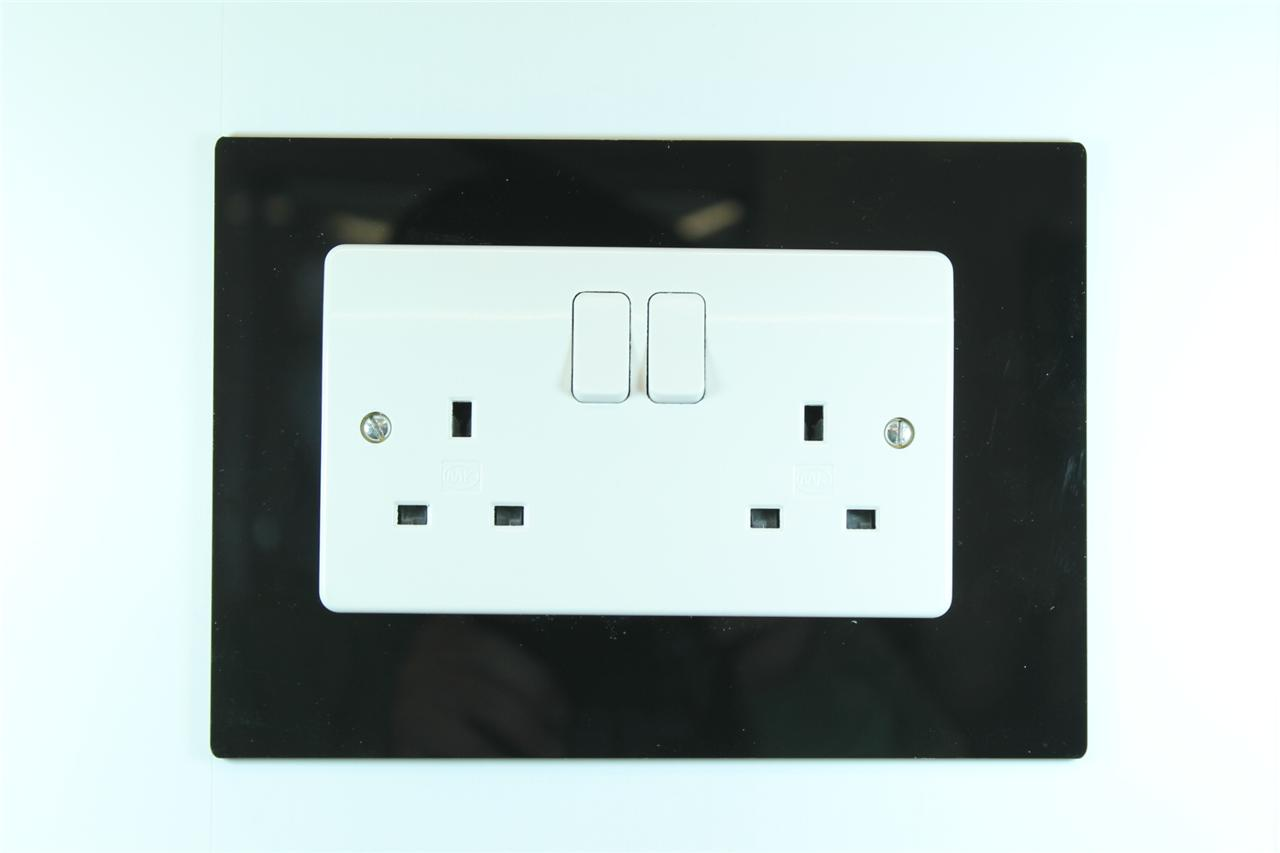 Classikool Single or Double Light Switch Plug Socket Wall Surround Finger Plate eBay