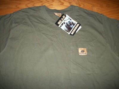 Men 39 s green bear river workwear work wear green short for Bear river workwear shirts