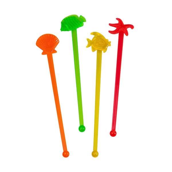 10-Sea-Theme-Cocktail-Stir-Sticks-Swizzle-Vintage-Retro-Style