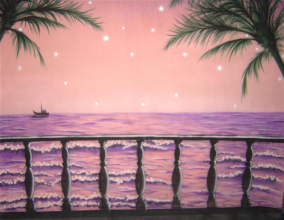 10'x20' Sea Rail Hand-Painted Muslin Backdrop