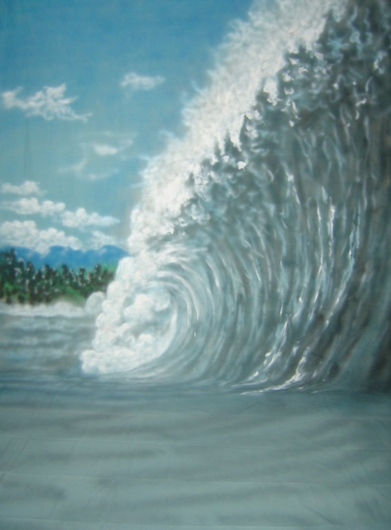 10'x20' Surfers Wave Scenic Muslin Backdrop