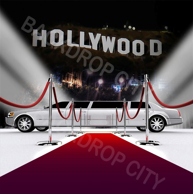 Hollywood Limo Computer-Printed Backdrop
