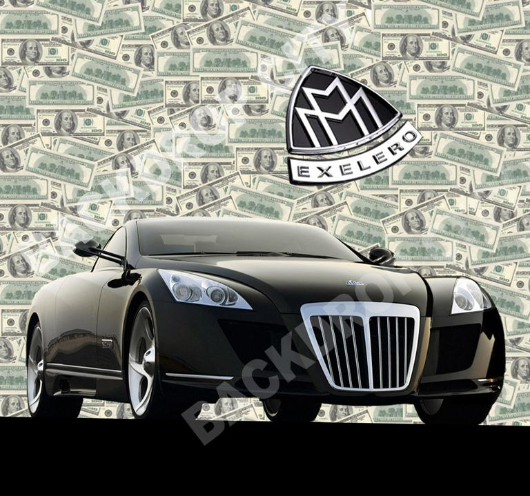 Benjamins Maybach Computer Printed Backdrop