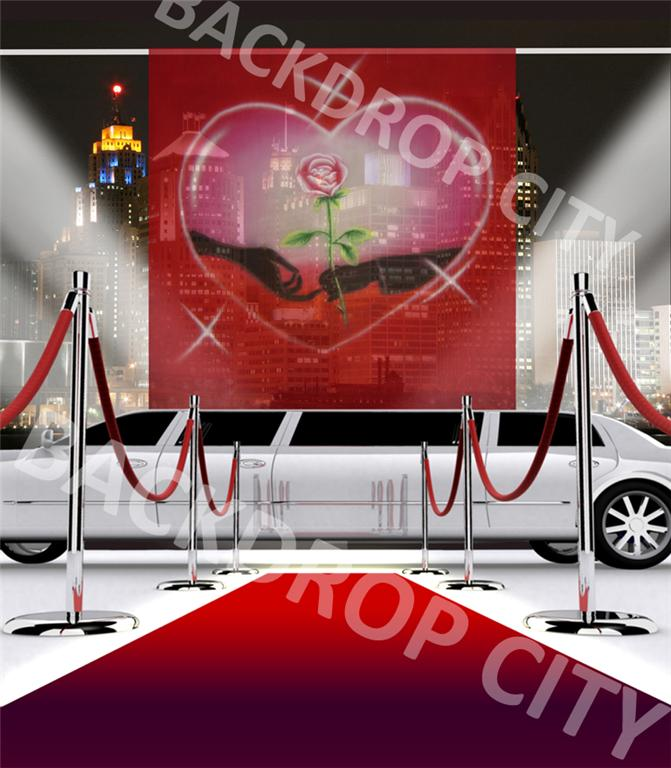 10'x20' Lovers Limo Computer-Printed Backdrop