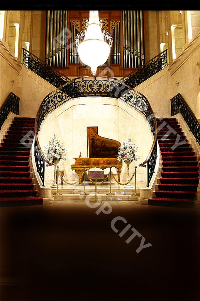 10' x 15' Piano Stair Computer-printed Backdrop