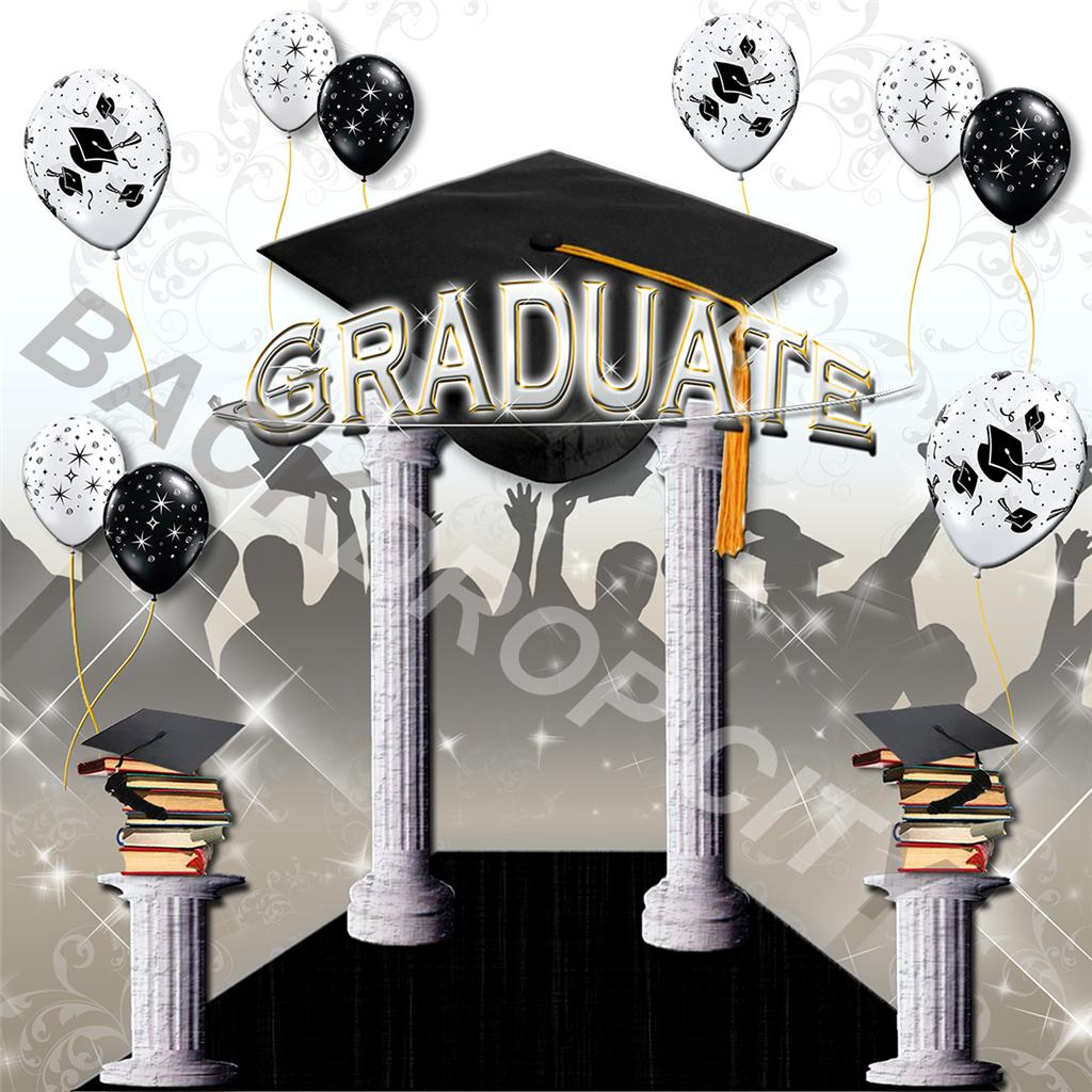 8x8 Graduation 3 Computer-Printed Background