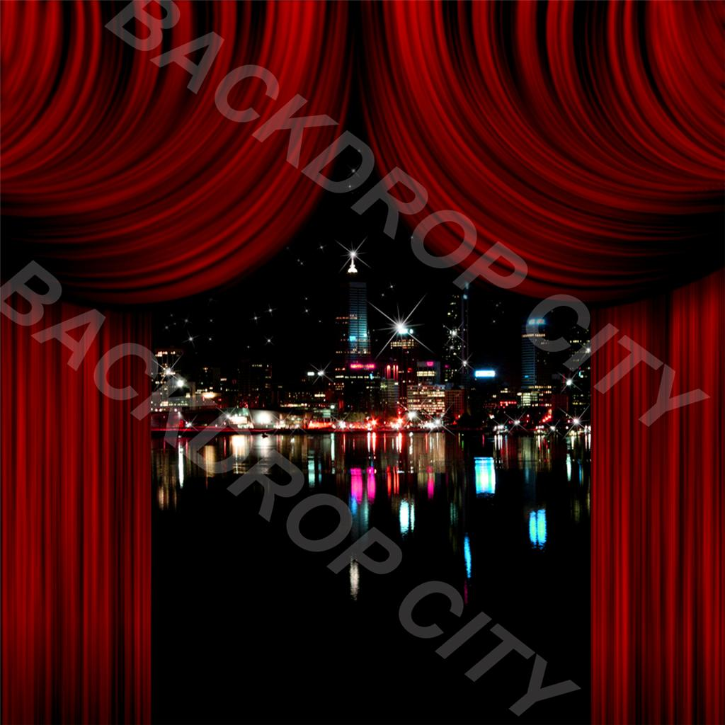 8' x 8' City Drapes Computer-Printed Backdrop
